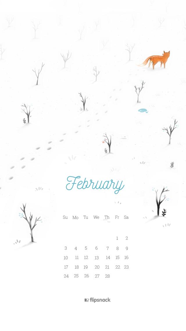 February 2019 Wallpaper Calendar Iphone