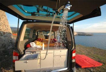 duschaufsatz moto vw caddy camping campingbus. Black Bedroom Furniture Sets. Home Design Ideas