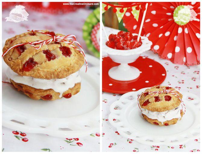 CHERRY Pies 'n Cream Sandwich