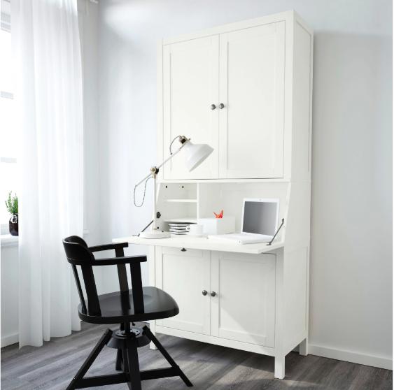 IKEA HEMNES Bureau with add-on-unit, white stain [pre order
