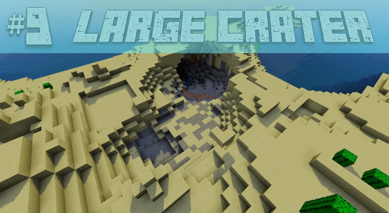 Cool Crater Ocean Monument Stronghold Minecraft Seed 1 8 7