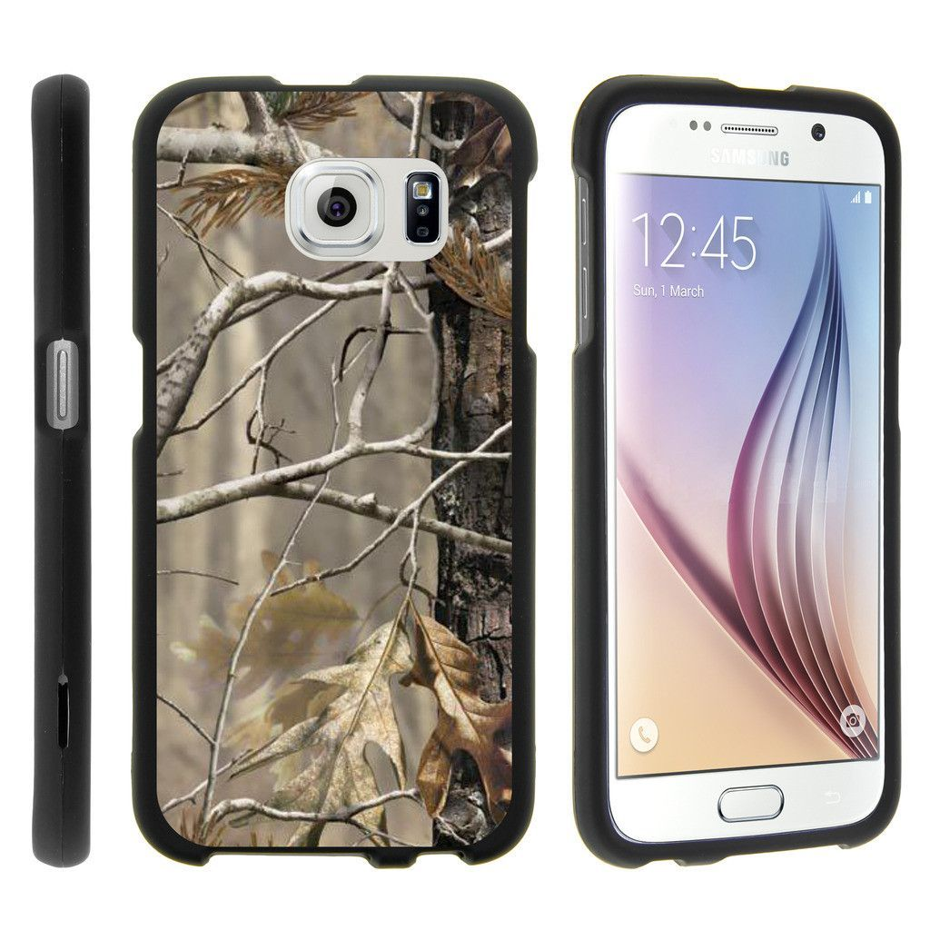 Galaxy S6 Case SNAP SHELL 2 Piece Rubberized Hard Cover Plastic - Fallen Leaves Camo