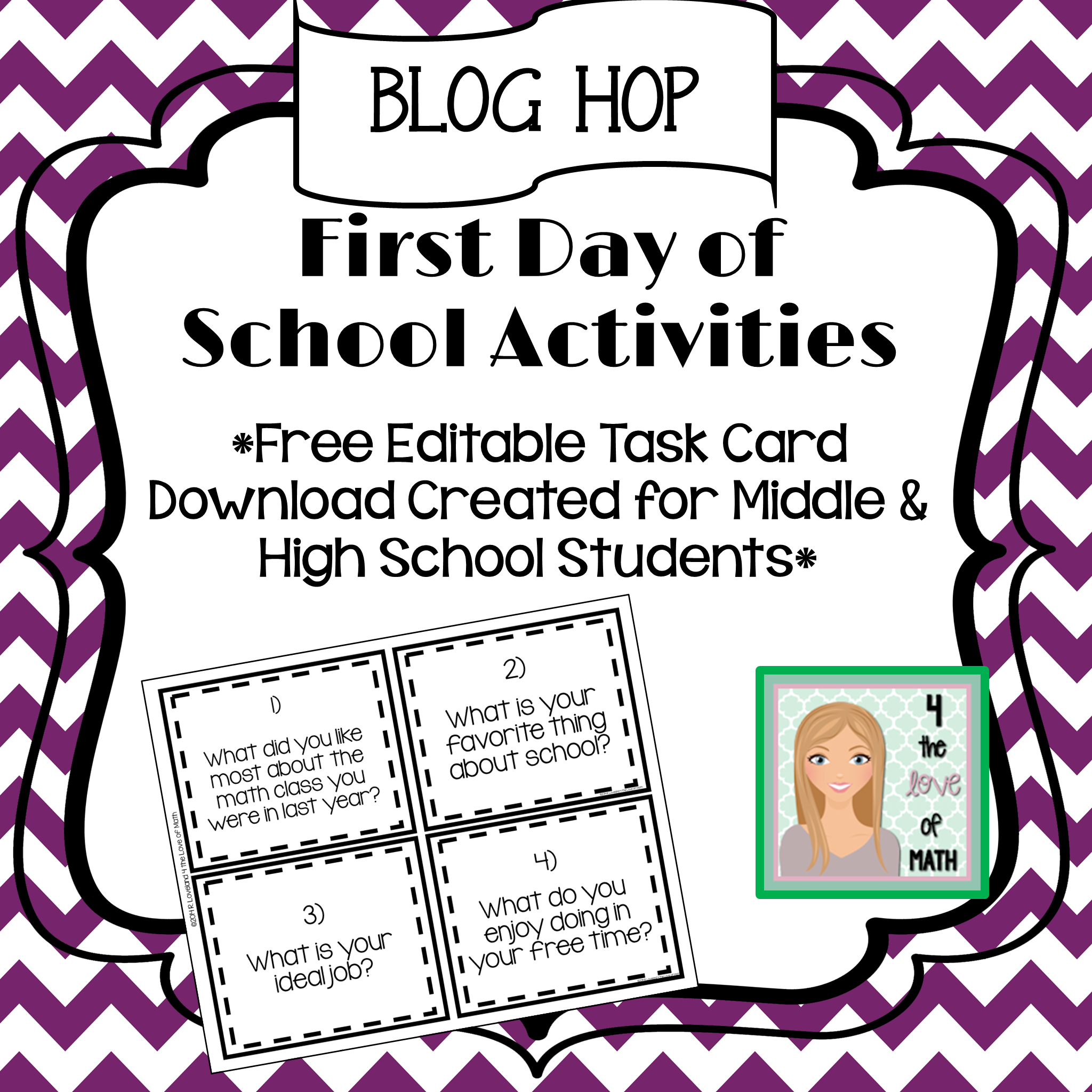 First Day Of School Activities: Blog Hop! Check Out This