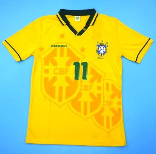 64d9d8eb5ff World Cup 1994 Brazil Soccer jersey Romario n°11
