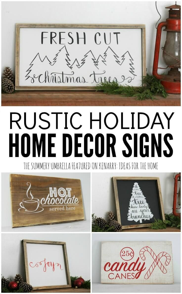 Holiday Home Decor Signs and Free Printable | Pinterest | Decorating ...