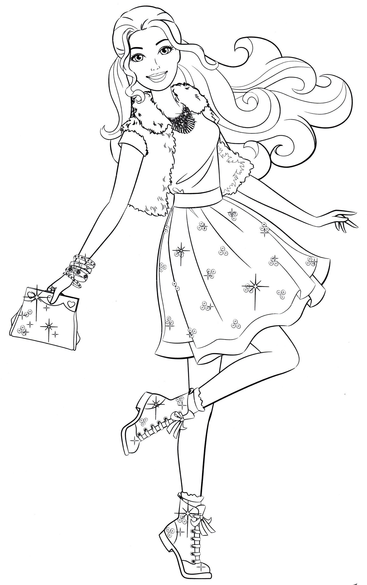 Pin By Warde Mhamed On Moi Sohranennye Materialy Barbie Coloring Barbie Coloring Pages Cartoon Coloring Pages