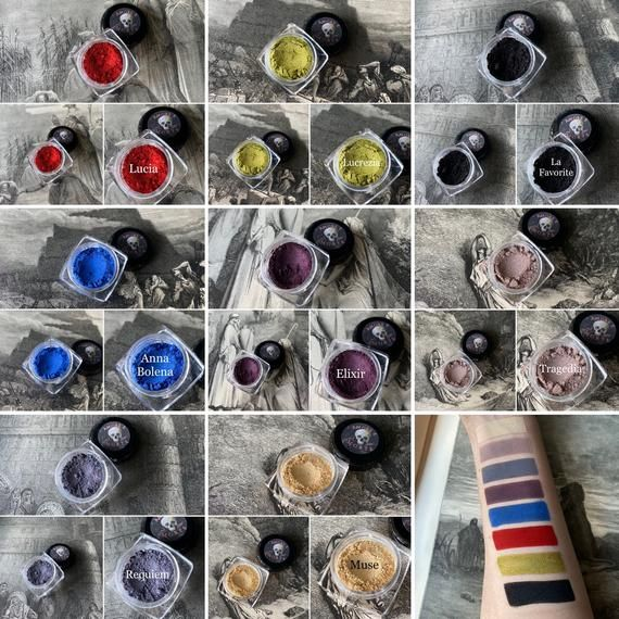 Amore E Morte Full Collection - Eyeshadow Lipstick Lip Gloss Set - Horror Occult