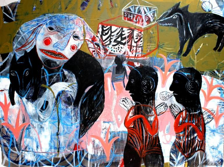 "Saatchi Art Artist Rusudan Khizanishvili; Painting, ""Foxy Lady"" #art"