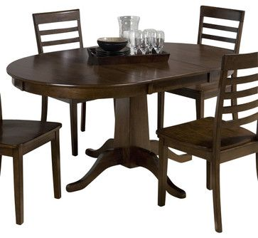 Jofran 342-60 Taylor Cherry Round to Oval Pedestal Dining ...