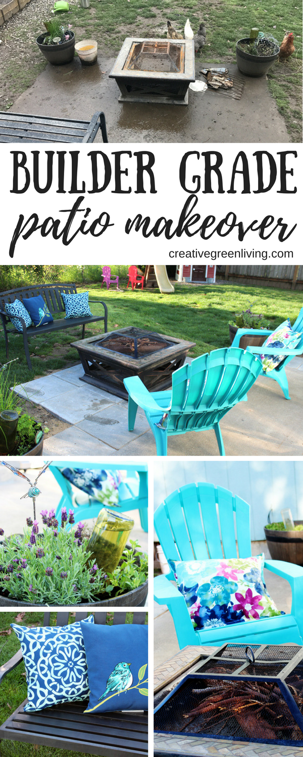 My Builder Grade Patio Makeover on a Budget   Backyard ... on fire pit ideas, pool ideas, courtyard ideas, stepping stone ideas, hot tub ideas, outdoor ideas, deck ideas, hammock ideas, patio ideas, gardening ideas, bbq ideas, balcony ideas, yard ideas, fence ideas, fireplace ideas, texas landscaping ideas, camping ideas, shed ideas, landscape design ideas, frontyard ideas,
