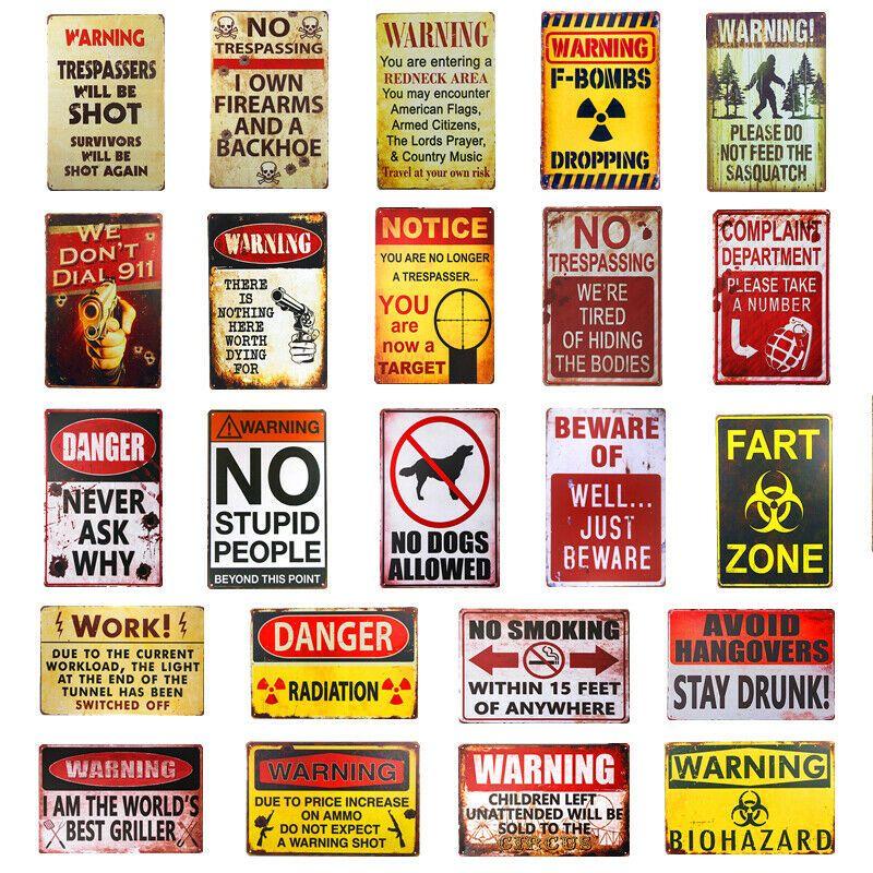 Vintage Plaque Metal Tin Signs Classic Poster Art Bar Club Retro Customization Ebay In 2020 Canvas Art Wall Decor Vintage Tin Signs Vintage Wall Art