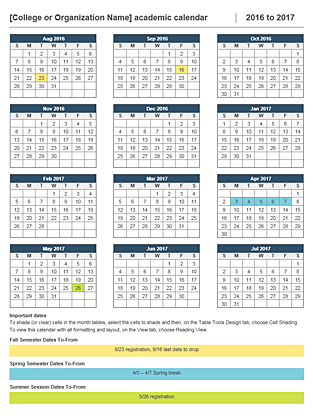 Academic Calendar    School Year