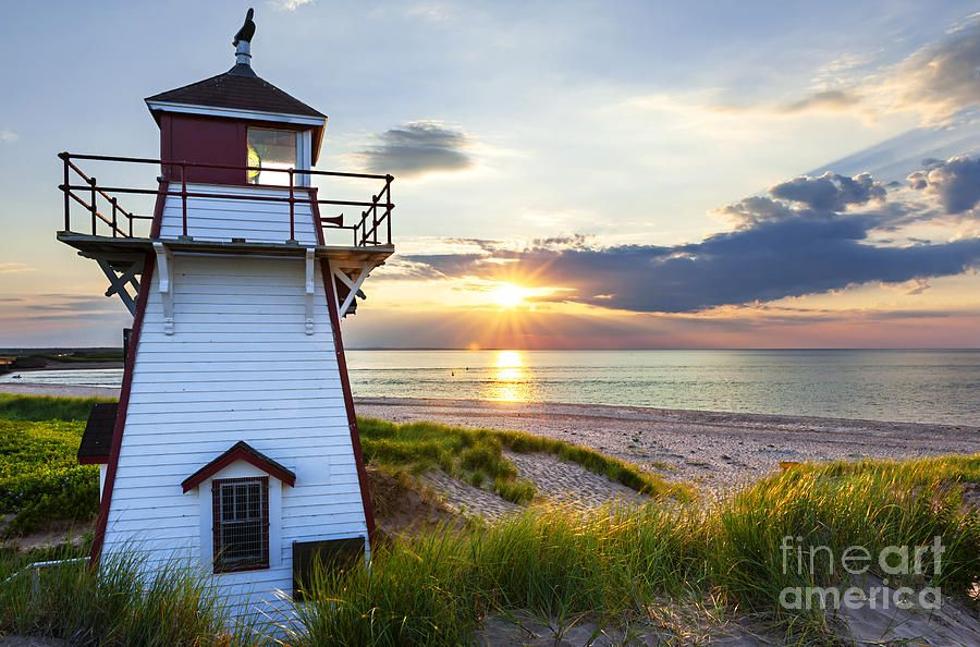 Sunset At Covehead Harbour Lighthouse Prince Edward Island