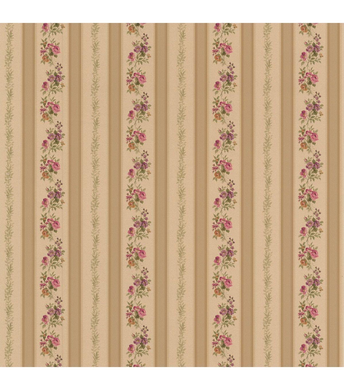 Princess Gold Floral Stripe Wallpaper Striped Wallpaper
