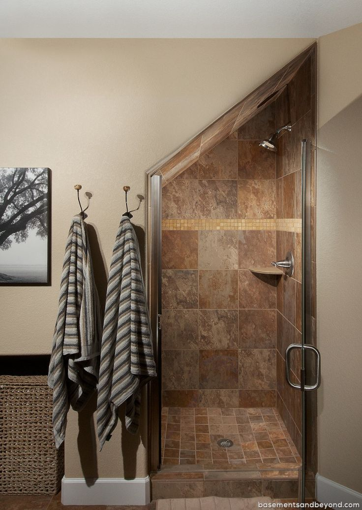 Basement Stair Ideas For Small Spaces: Shower Under Stairs