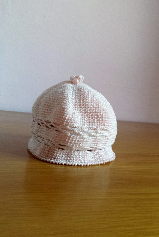 Cappellino Rosa Per Neonata 0 3 Mesi Di Crochetshop79 Su Etsy