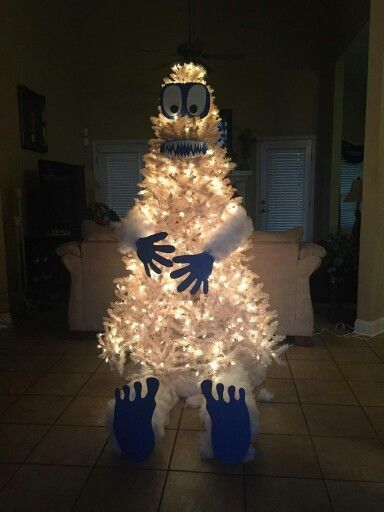 An abominable snowman tree!!!! | yeti christmas tree | Pinterest ...