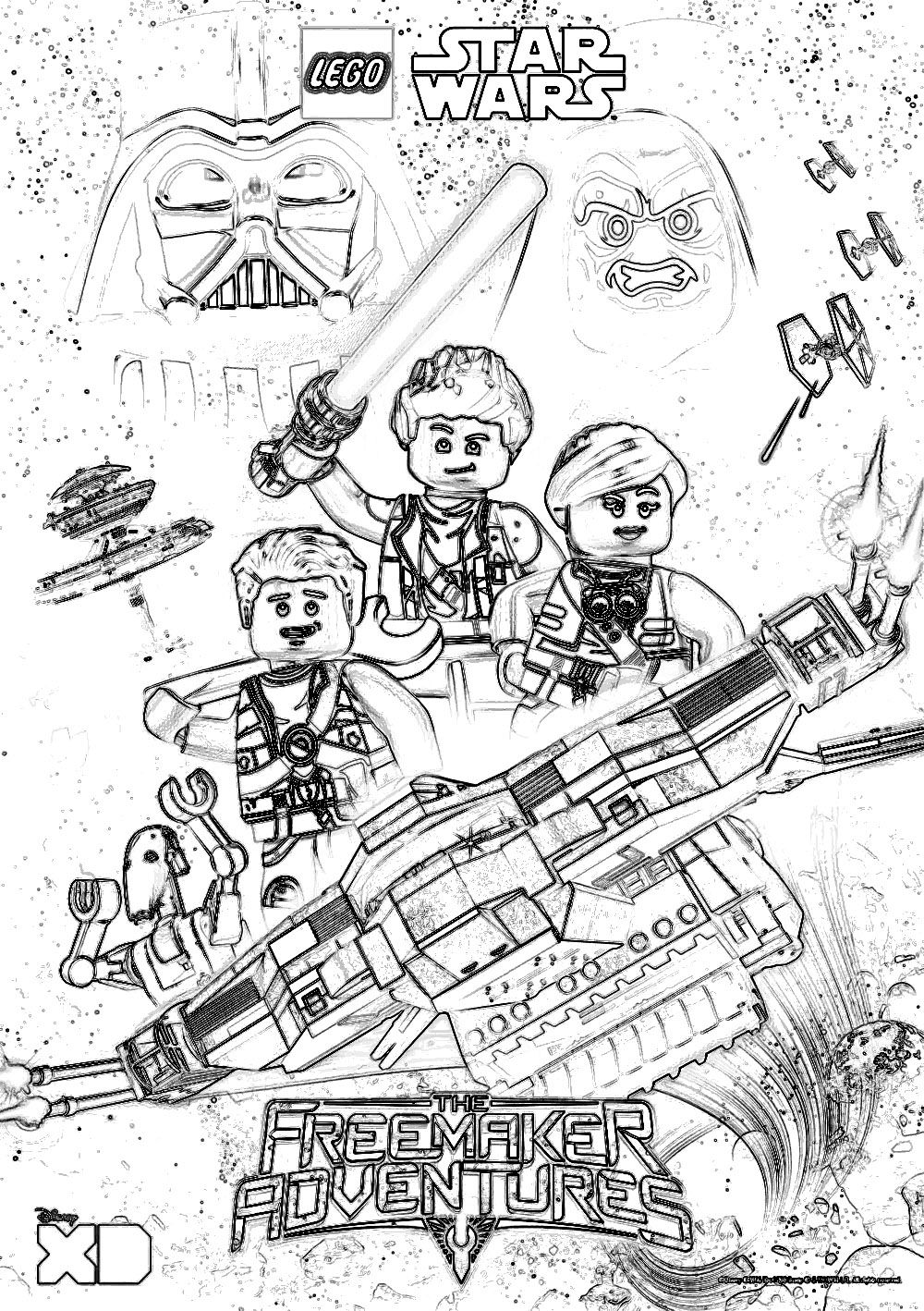 Lego coloring pages to print lego coloring pages lego darth - Lego Star Wars Coloring Pages