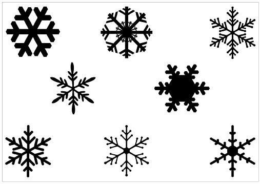 Snowflakes Vector Silhouette - silhouettevector.net | Snowflake ...