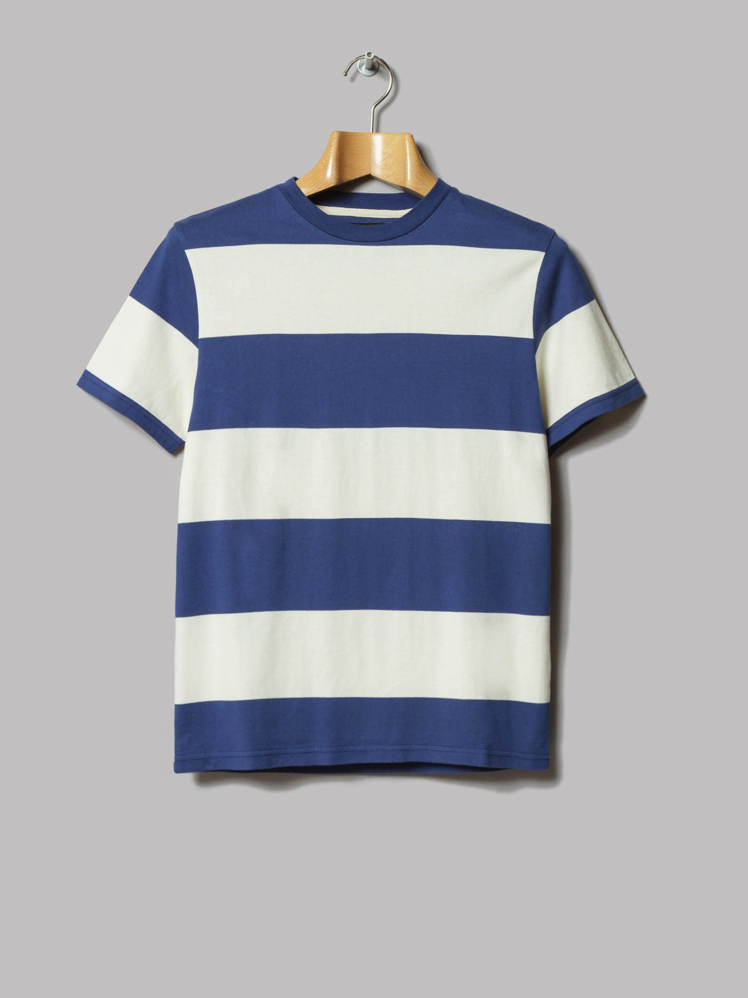 5f46655653 Beams Plus 4 Inch Pitch Border T-Shirt (Off White / Navy) | Styler ...
