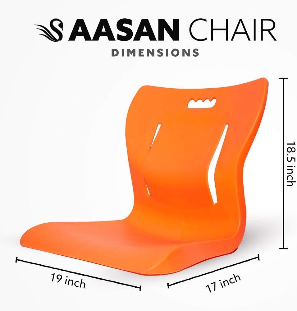 Aasan Chair Yoga Meditation Backache Healer Chair Saffron Chair