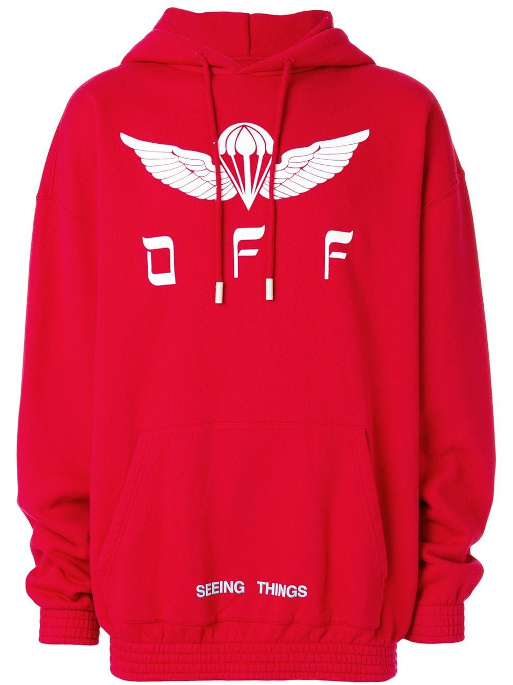 Off White Off White Seeing Things Hoodie Red Off White Cloth