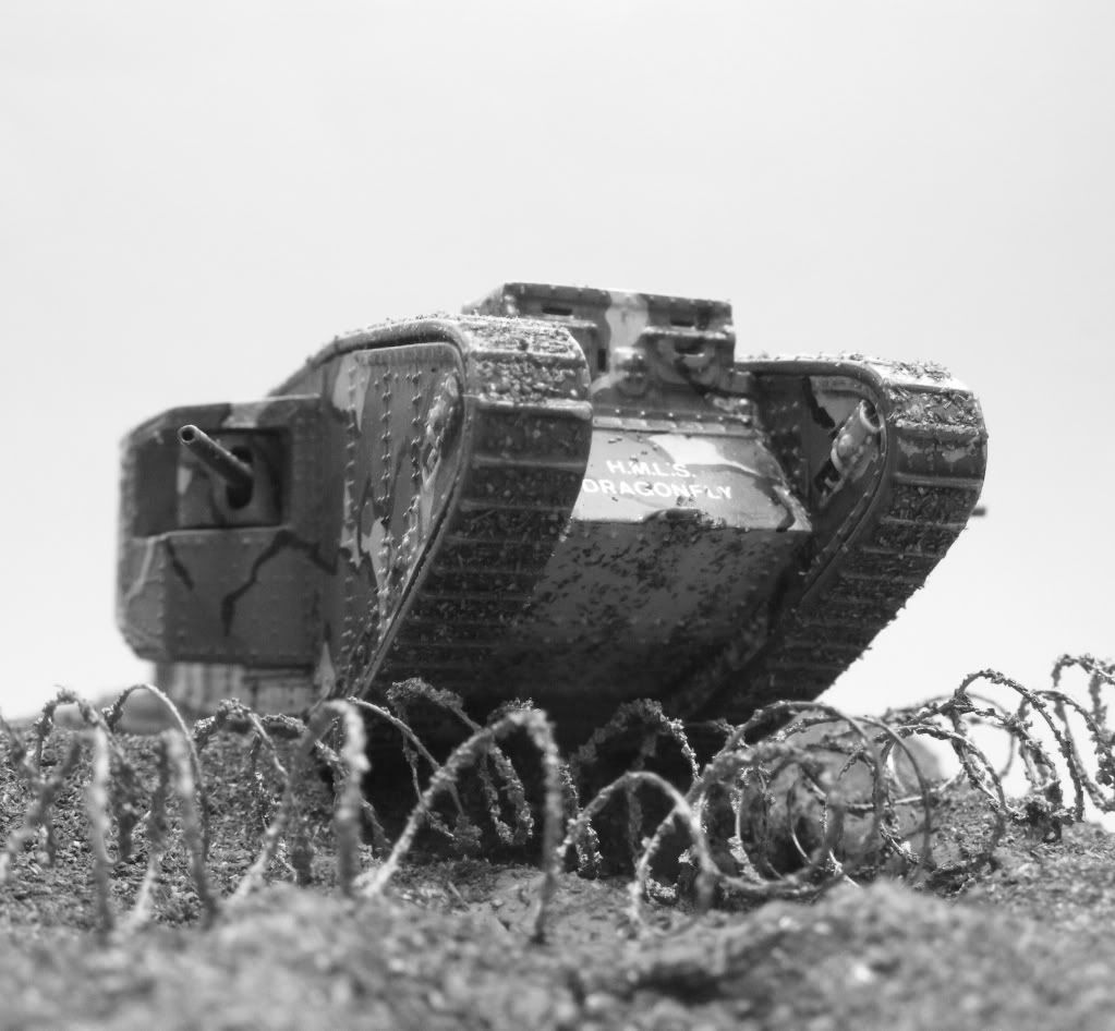 WWI tank plowing over the barb wire | Military | Pinterest | Wire ...