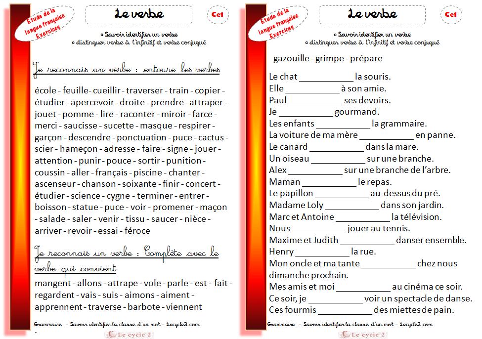exercices-verbes-ce1-identifier-les-verbes-reconnaitre-le ...