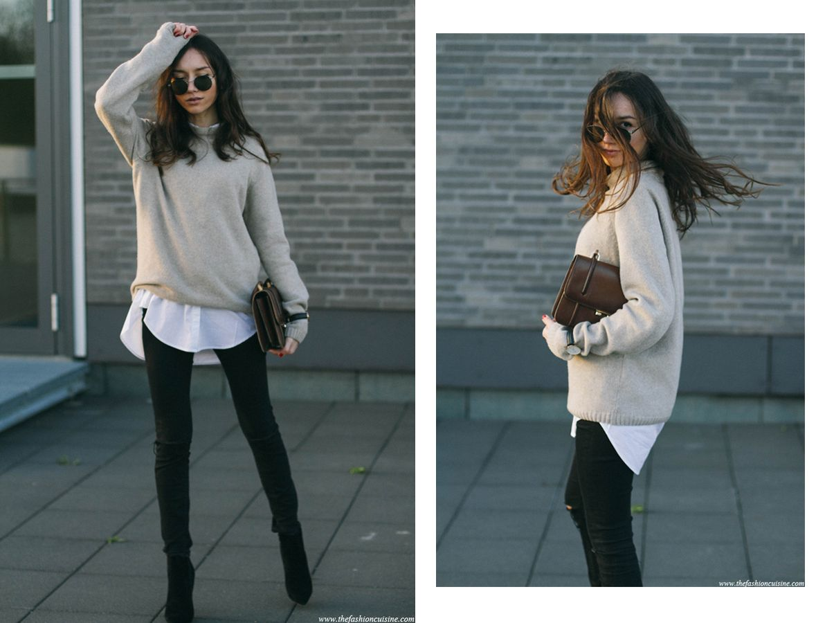 pullover oversized sweatshirt outfit - Google Search | Casual ...