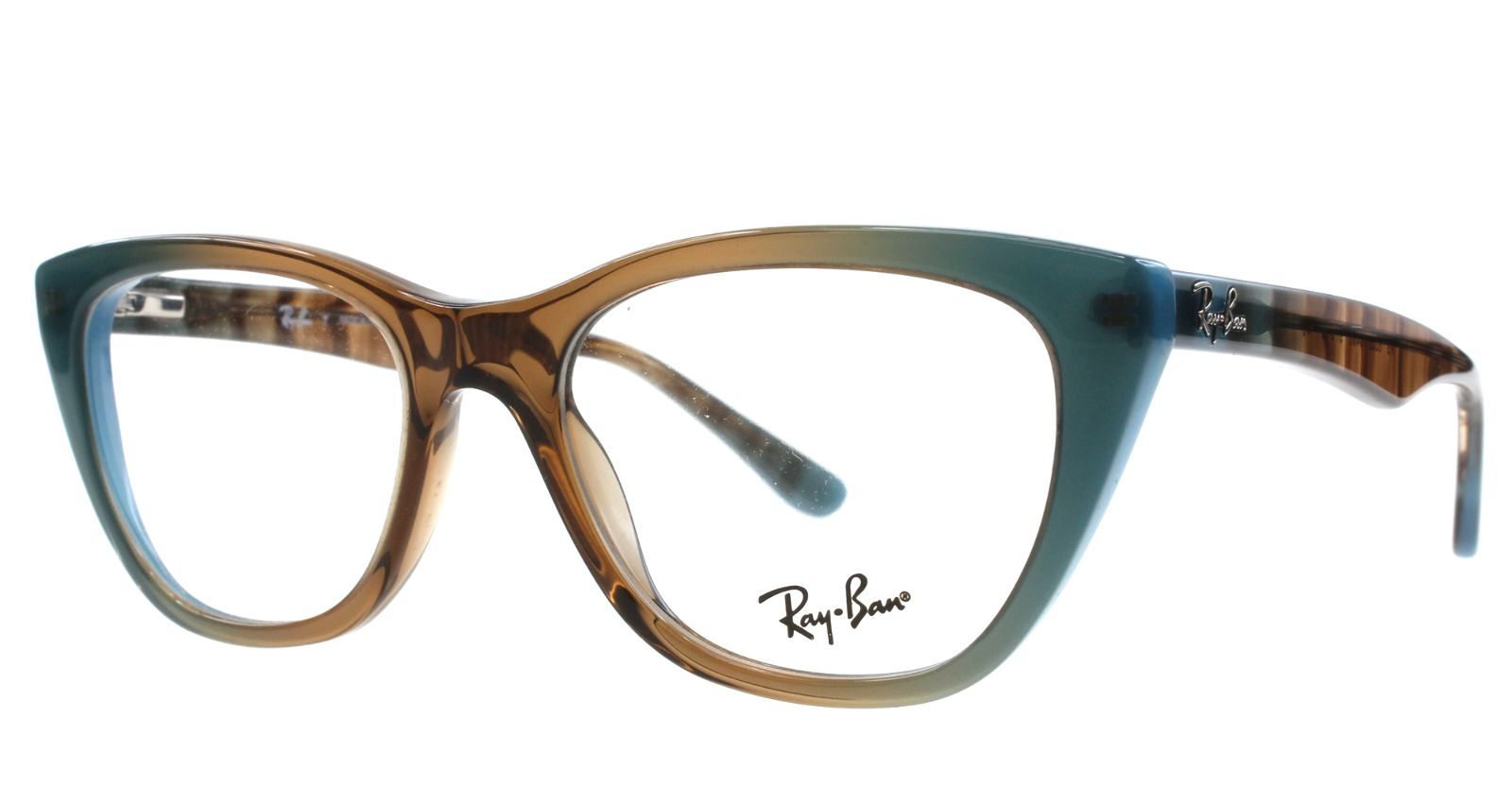 Pin New Ray Ban Eyeglasses Women Cat eye RB 5322 Brown 5490 RB5322 ...
