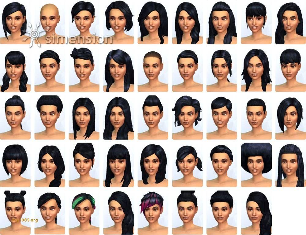 Sims 4 Frisuren Frisuren Pinterest