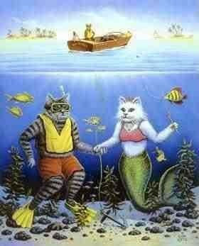 mermaid cats | mermaid cats | Merkitties and Mermaids | Pinterest