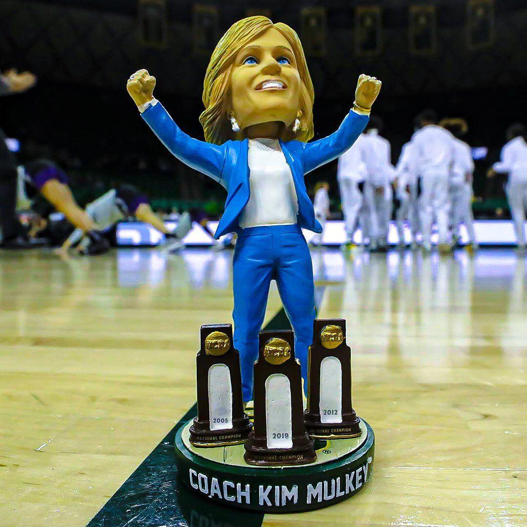 Kim Mulkey Bobble Head in 2020 Baylor athletics, Bobble