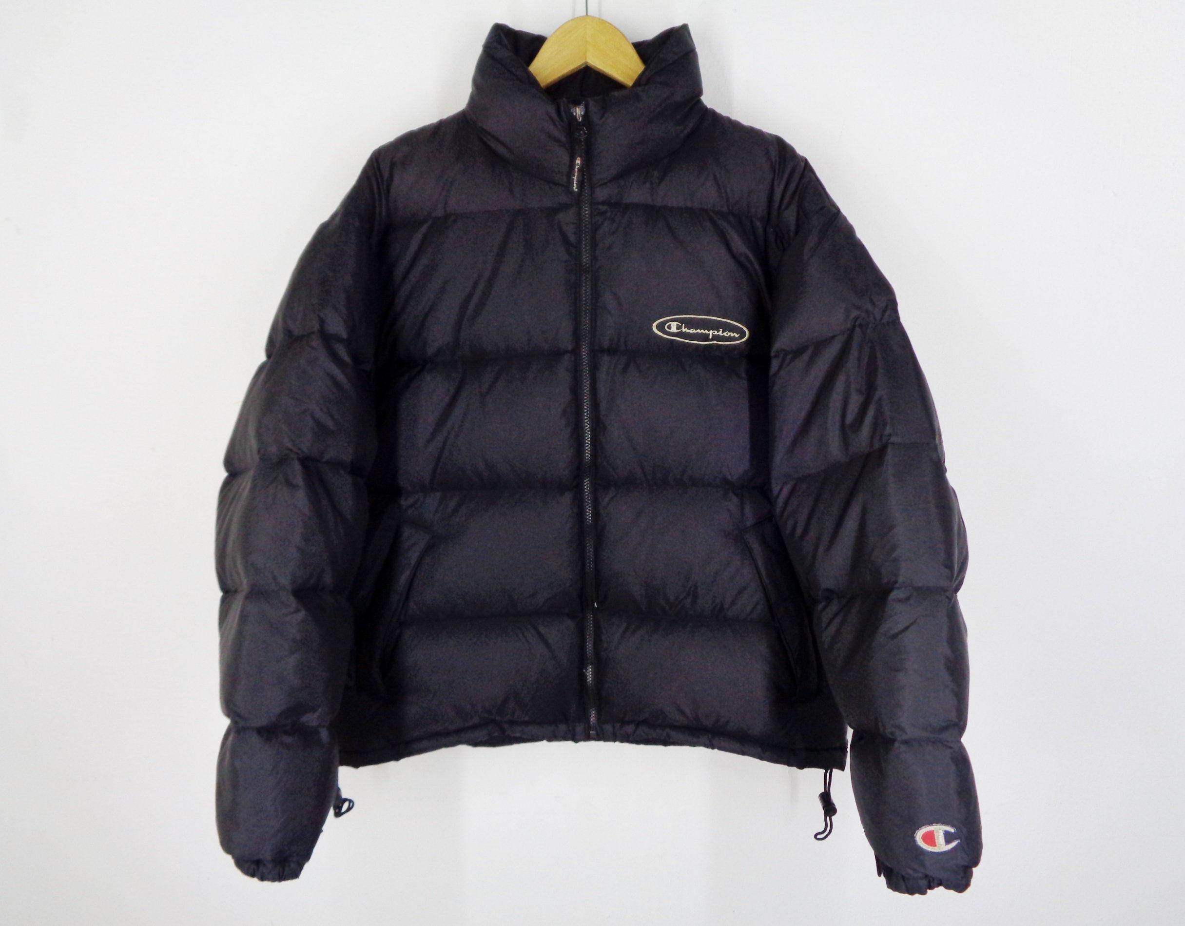 Champion Jacket Vintage Champion Puffer Jacket Vintage 90 S Champion Winter Zipper Puffer Goose Down Jacket Size M Champion Jacket Jackets Vintage Champion [ 1899 x 2431 Pixel ]