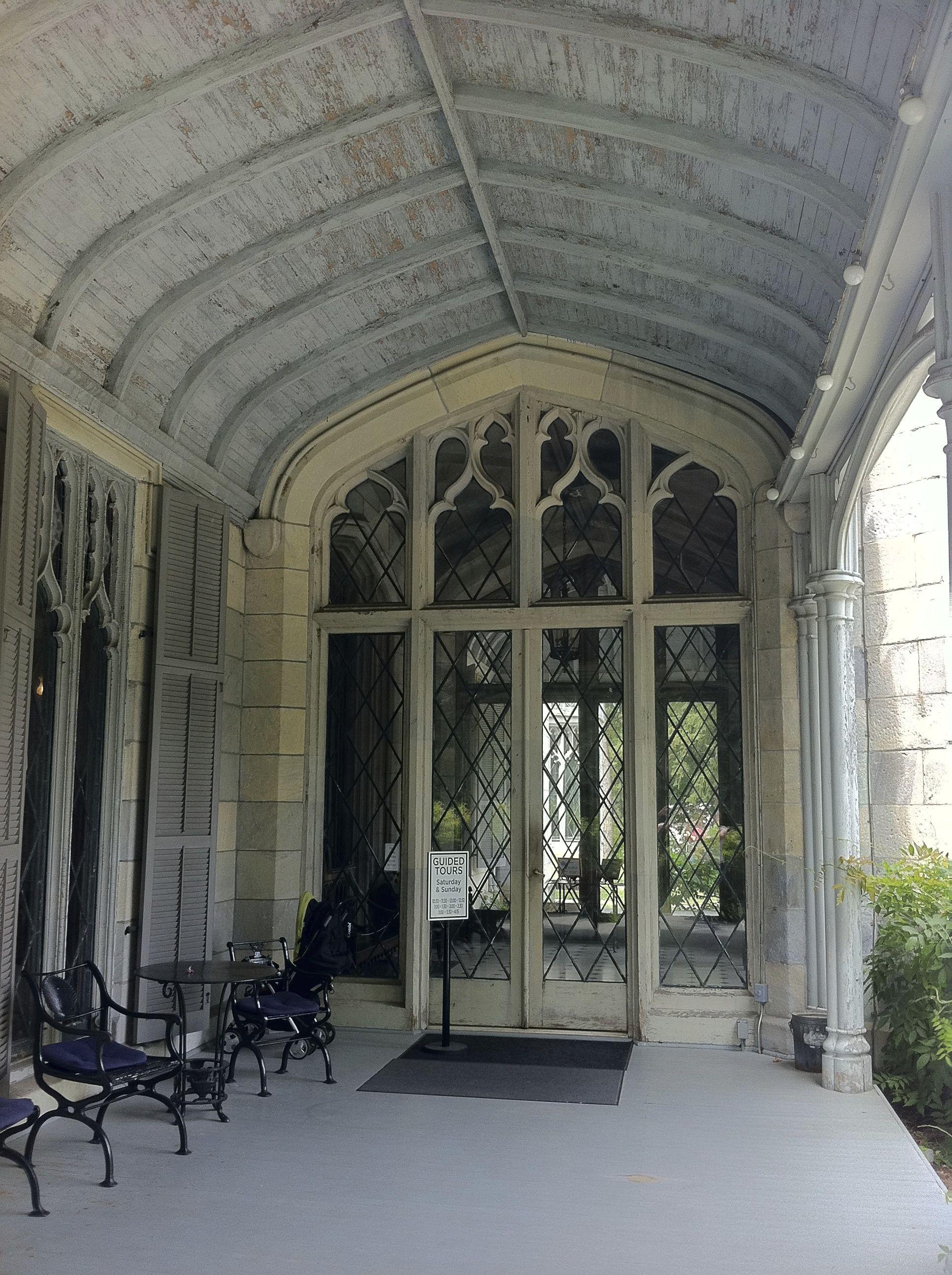 Outside the vestibule, on the veranda. Linhaven (Lyndhurst