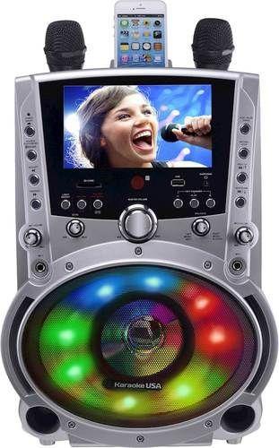 Karaoke USA - MP3 Karaoke System - Silver #karaokeplayer Karaoke USA - MP3 Karaoke System - Silver #karaokesystem