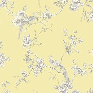 Details About Arthouse Chinoise Yellow White Floral Birds Opera