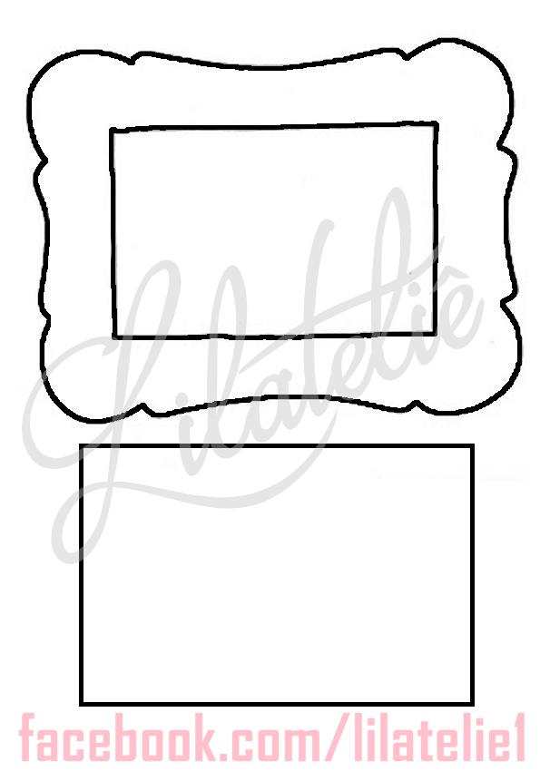 Porta Retrato Lembrancinha Ou Convite Moldes Molde De Porta