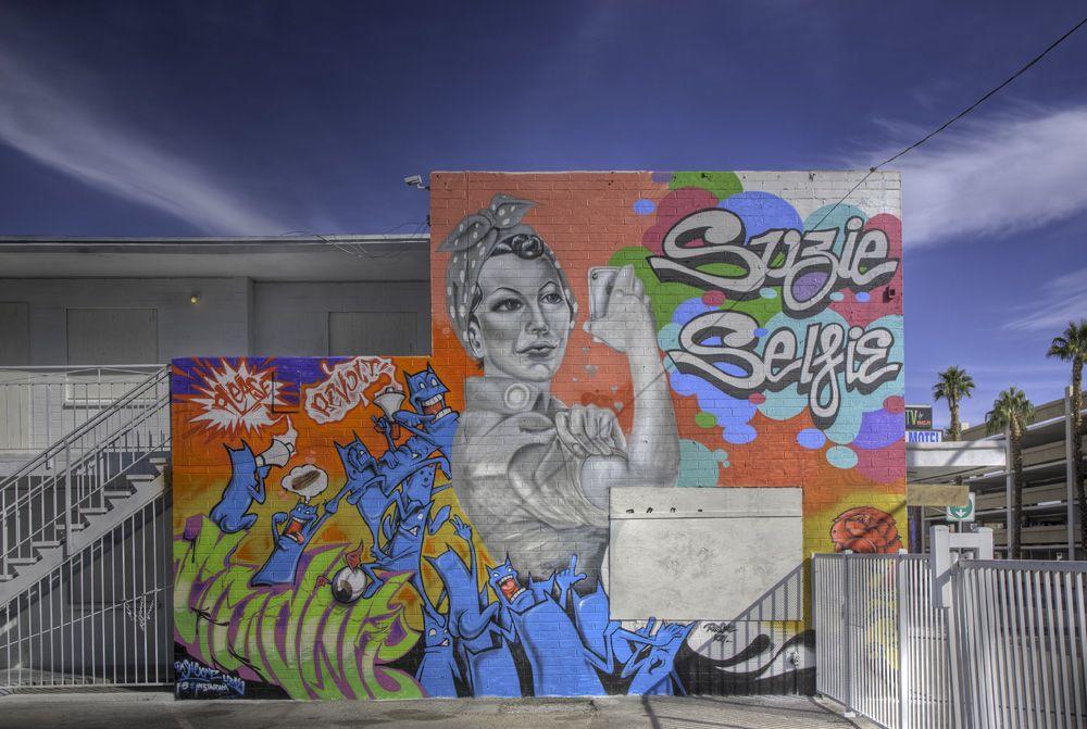 Ras One Artist Mural Downtown Las Vegas 100 Spray Paint