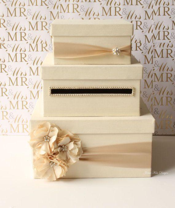 DIY Etsy Inspired Cardbox Wedding Brown Card Box Diy Ivory Reception Sign Il Money Gift Holder