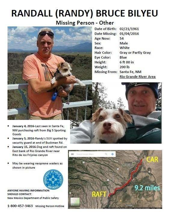 Missing Person: Randy Bilyeu - Treasure Hunter In Santa Fe