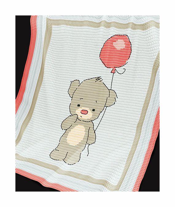 CROCHET Pattern - Baby Blanket Pattern - Baby Bear - Crochet Graph ...