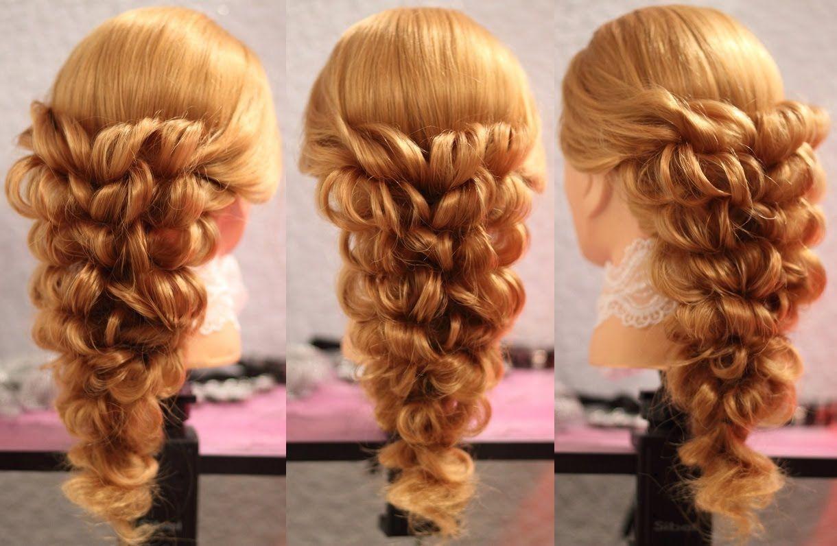 Прически с резиночками на средние волосы