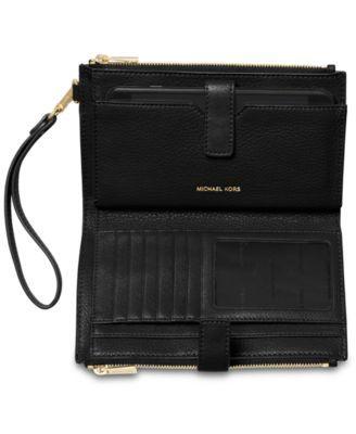 b6ea288d558c9 Michael Michael Kors Adele Double-Zip iPhone 7 Plus Wristlet - Black Gold