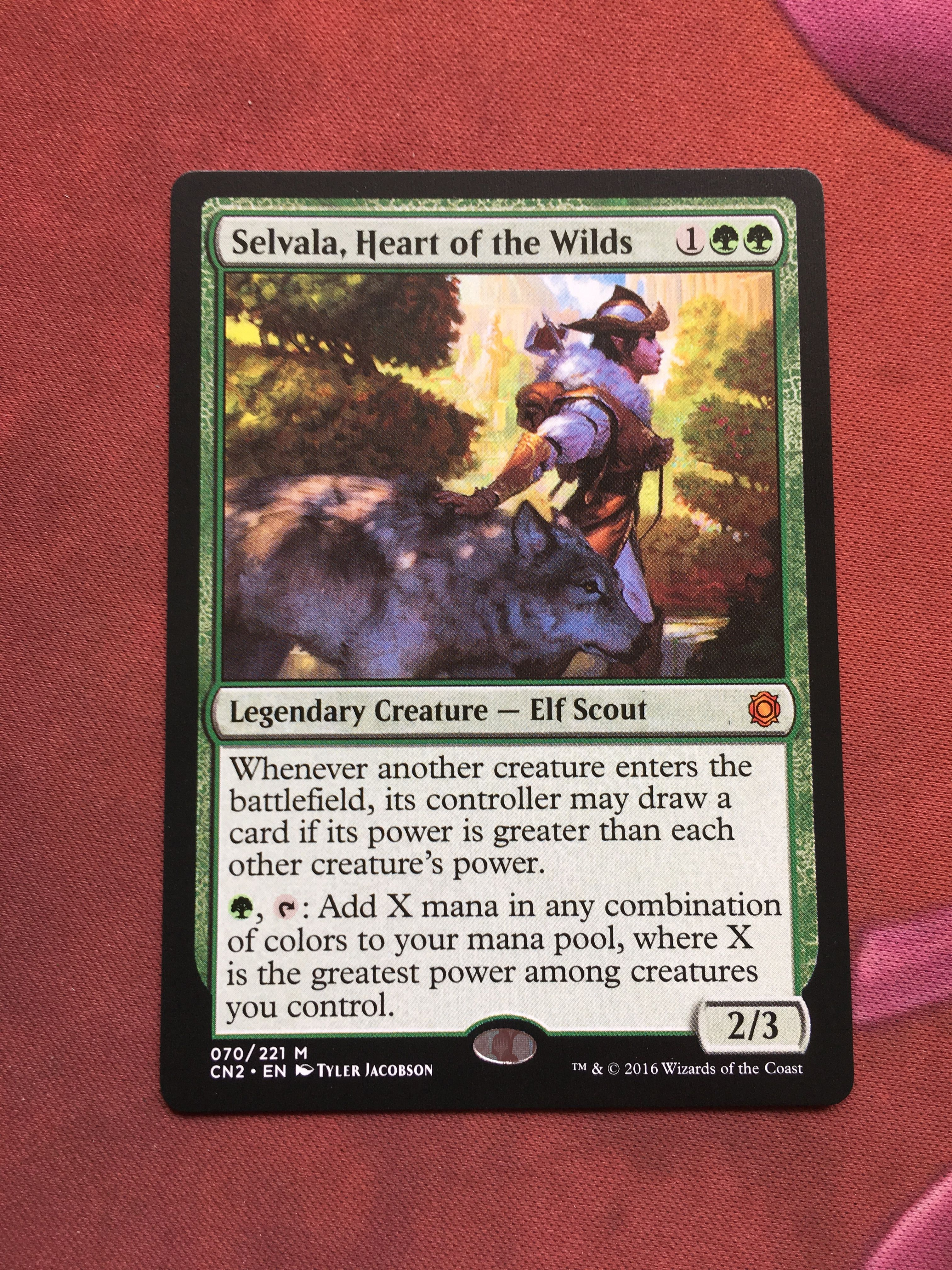 Selvala, Heart of the Wilds Cards, Holo, Legendary creature