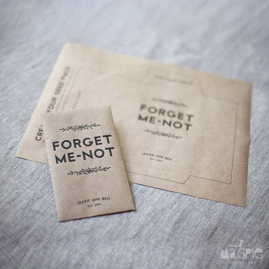 Magpie Paper Works Printable Seed Wedding Favors Digital Template