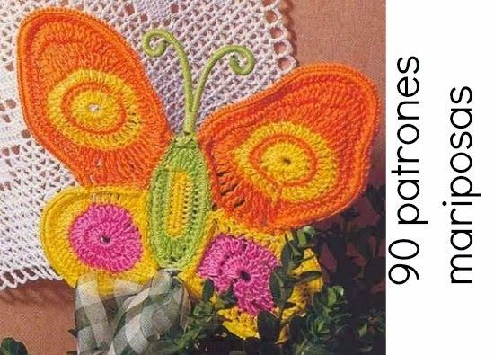 90 mariposas patrones en crochet   Diana   Pinterest   Mariposas ...