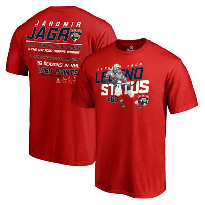 fa47b1095 Jaromir Jagr Florida Panthers Fanatics Branded 2nd All-Time Point Record T- Shirt - Red