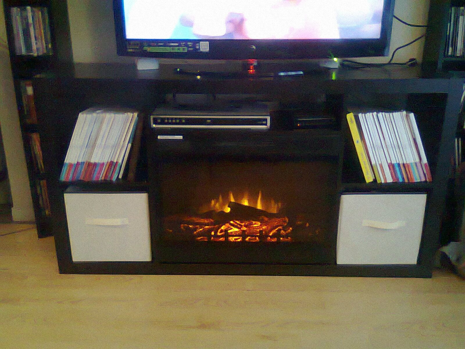 perfect height for TV and storing xBox/stereo - Ikea bookcase   House and  Home   Pinterest   TVs, We