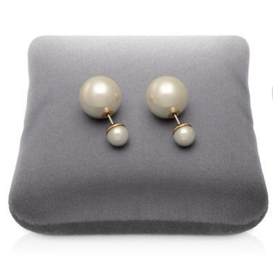 White pearl Trend Earrings Gold Stud
